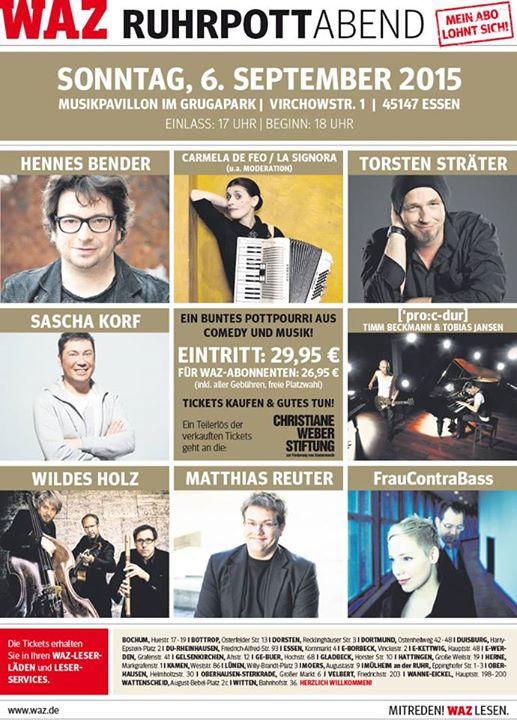 Poster der WAZ Benefiz Veranstaltung